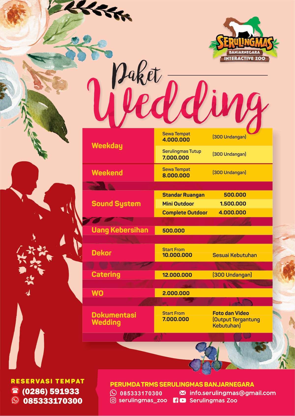 PAKET WEDDING SERULINGMAS